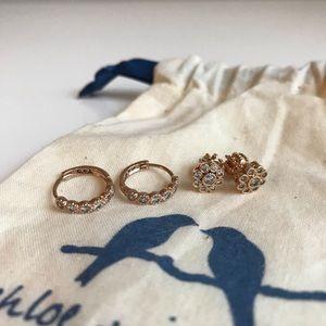 Chloe + Isabel Rose Gold Earrings 🌹